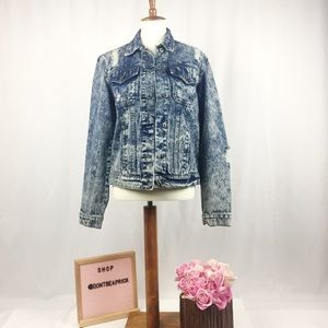 Carmar Distressed Jean Jacket (Sz: M)